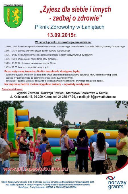 Piknik Zdrowotny w Łaniętach - Zdjęcie główne
