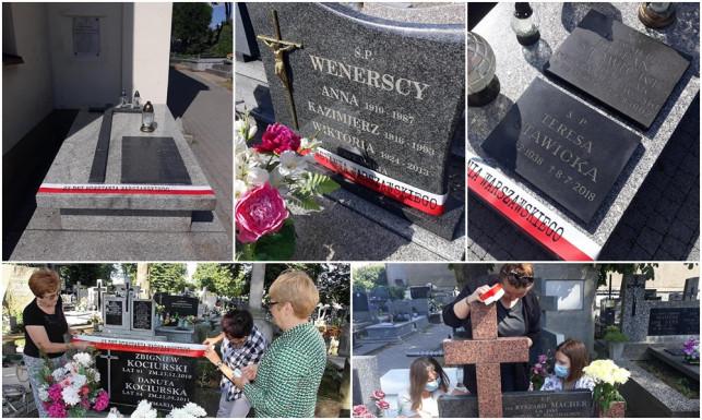 [ZDJĘCIA] TPZK ku pamięci Powstańców Warszawskich. Na grobach zawisły szarfy - Zdjęcie główne