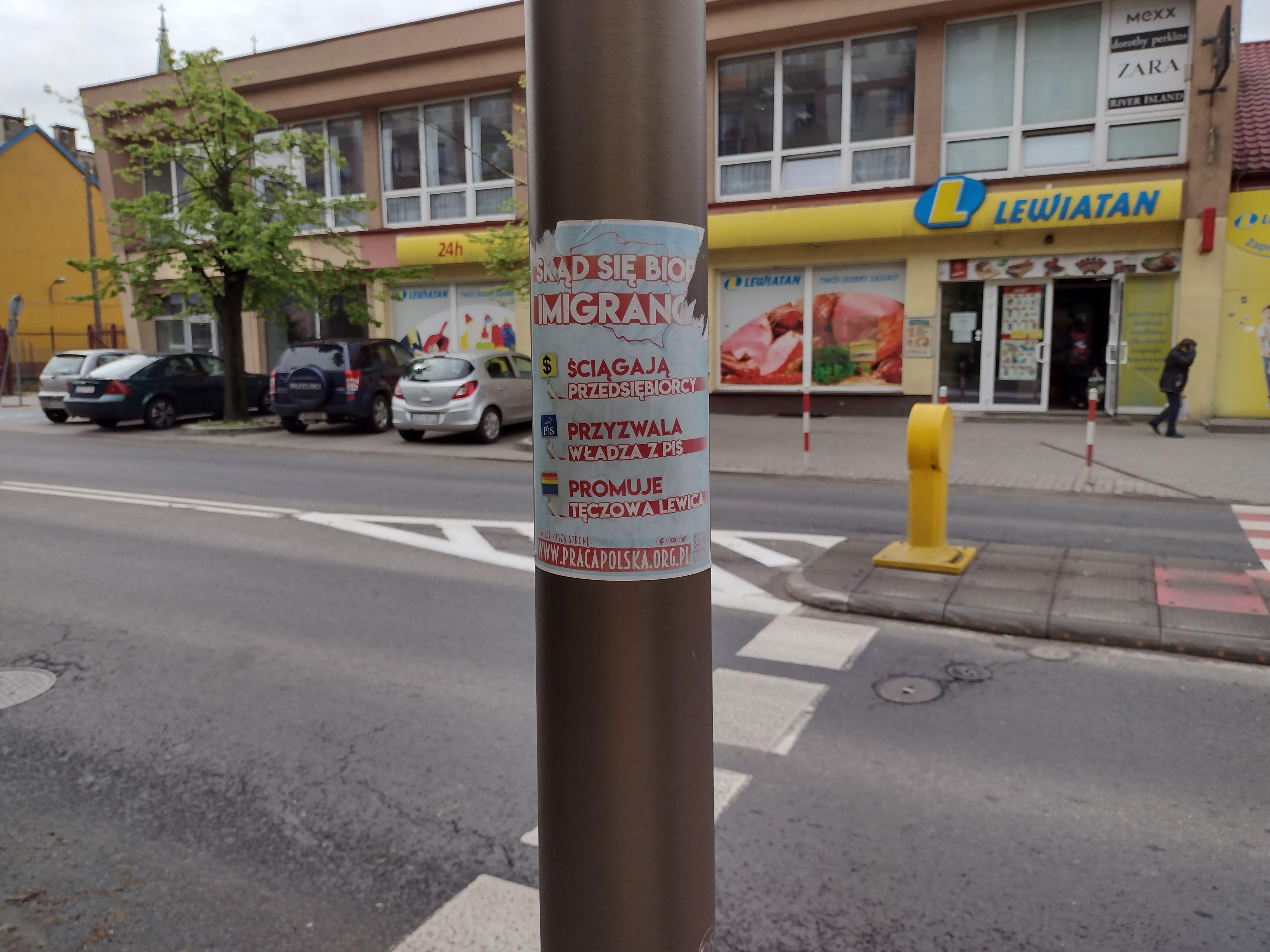 W centrum Kutna pojawiły się antyimigracyjne plakaty. O co chodzi? - Zdjęcie główne