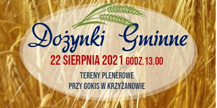 Wójt gminy Krzyżanów zaprasza na dożynki - Zdjęcie główne