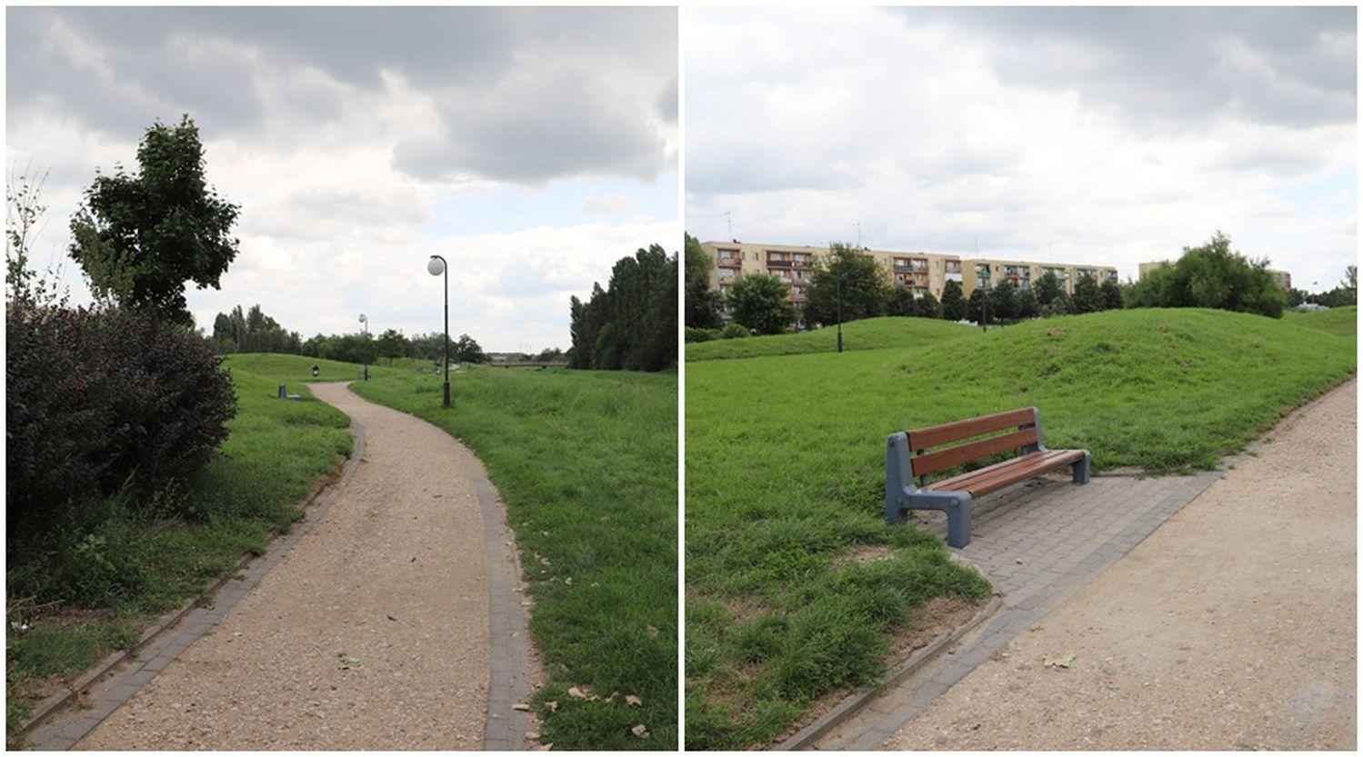 Zmiany w Parku nad Ochnią. Wykorzystano materiały z remontu Wybickiego [ZDJĘCIA] - Zdjęcie główne