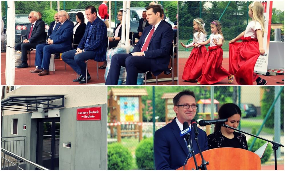 [ZDJĘCIA] Parlamentarzyści PiS i wojewoda zawitali do Bedlna. Nowy żłobek oficjalnie otwarty - Zdjęcie główne