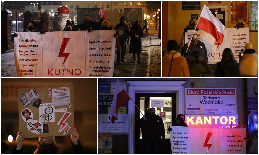 [ZDJĘCIA] Strajk kobiet powrócił na kutnowskie ulice. Pod biurami posłów znów zawrzało - Zdjęcie główne