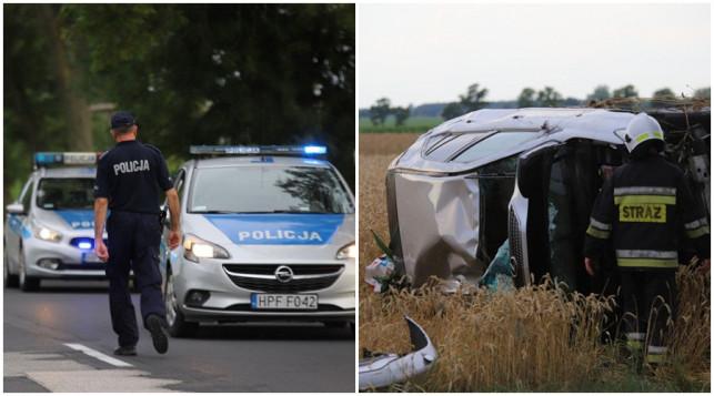 [ZDJĘCIA] Policja komentuje wczorajszy wypadek: ''Jedna osoba ranna, dzieciom nic się nie stało'' - Zdjęcie główne