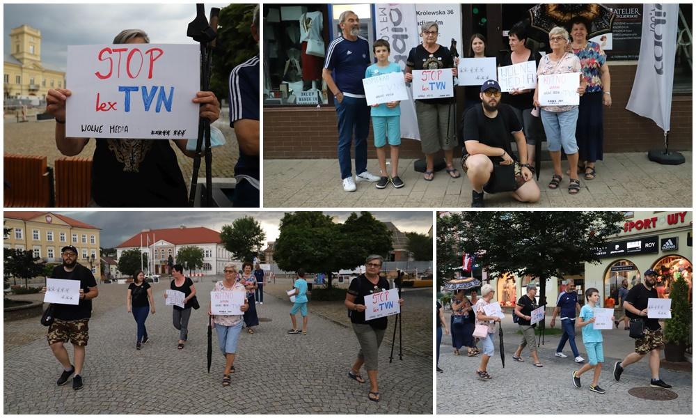 """W Kutnie protestowali w obronie TVN. Organizatorzy: """"W Polsce skończy się era wolnych mediów"""" [ZDJĘCIA] - Zdjęcie główne"""