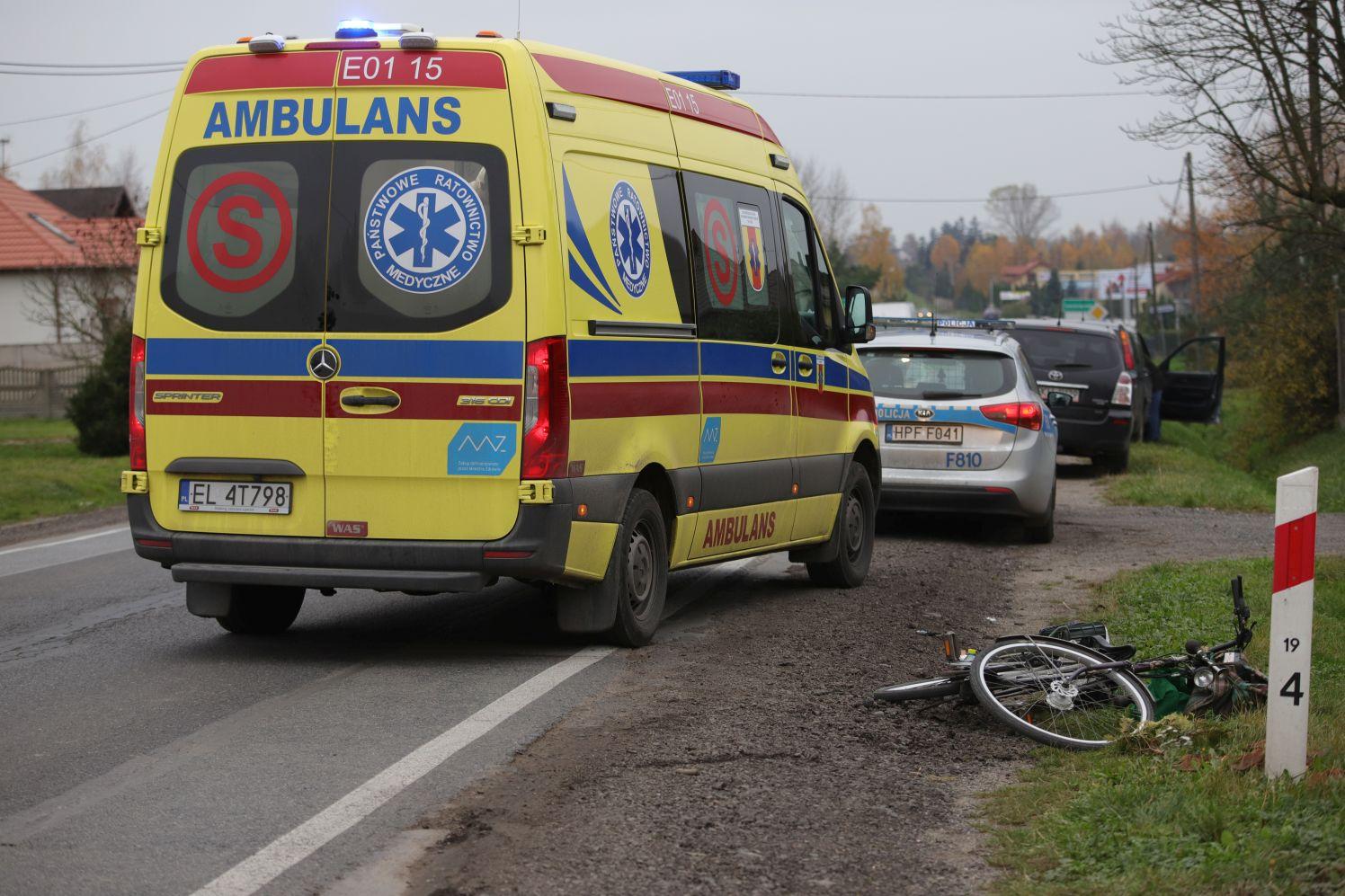 Potrącenie rowerzysty w Kutnie. Policja apeluje o ostrożność - Zdjęcie główne