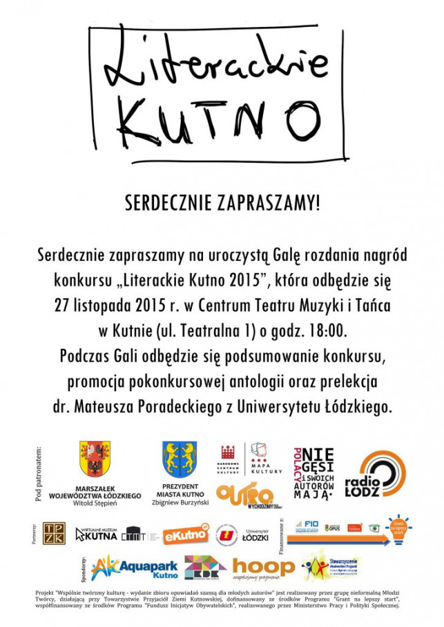 """Gala finałowa """"Literackie Kutno 2015"""" - Zdjęcie główne"""