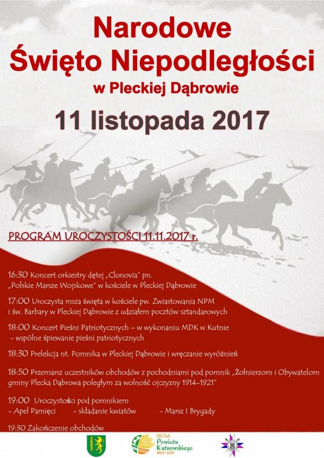 Narodowe Święto Niepodległości w Pleckiej Dąbrowie - Zdjęcie główne
