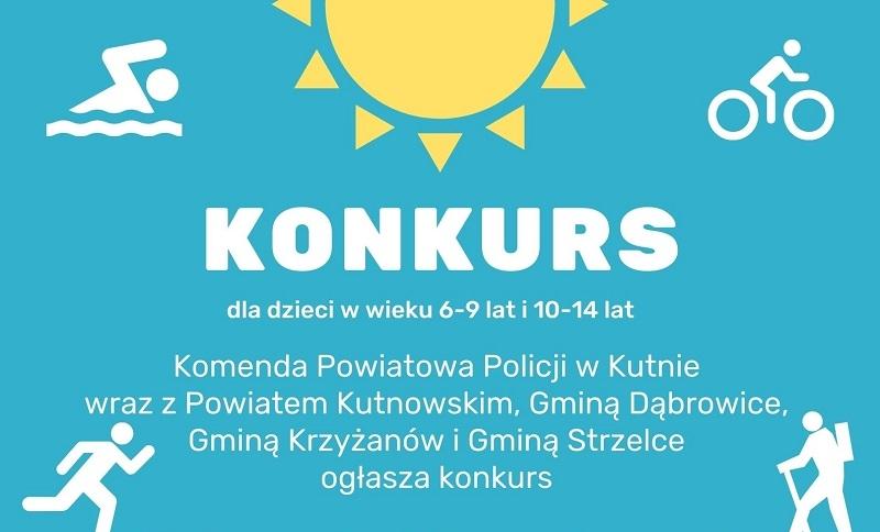 """Kutnowska policja zaprasza do udziału w konkursie """"Aktywnie i bezpiecznie spędzam wakacje"""" - Zdjęcie główne"""