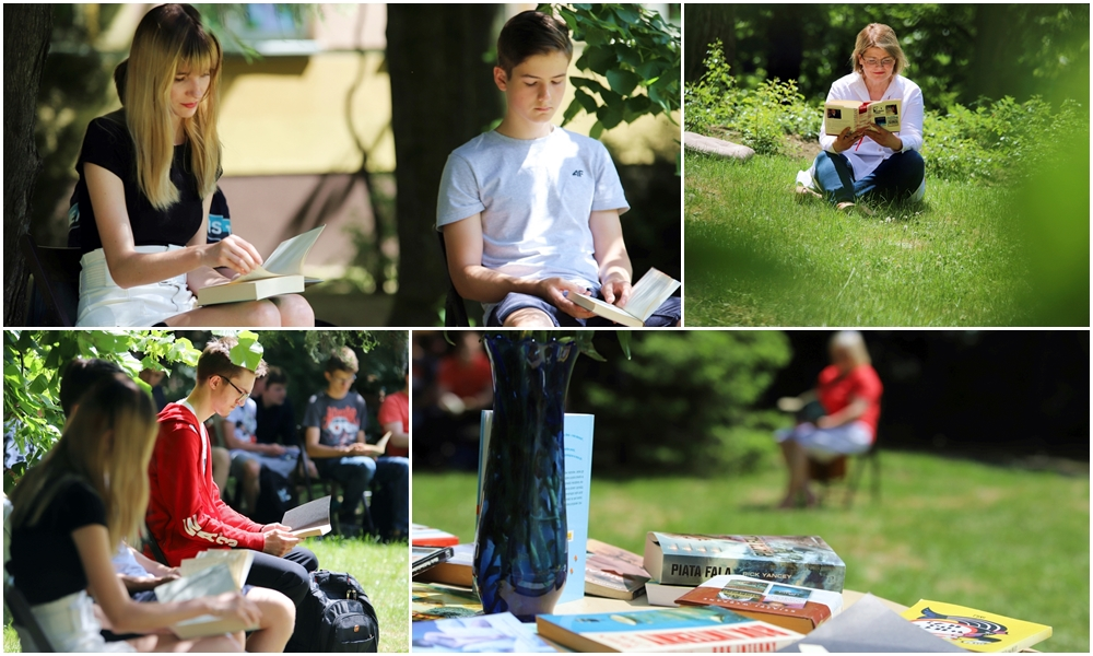 [ZDJĘCIA] Kutnowska młodzież czytała z biblioteką. Trwa VII edycja Święta Wolnej Książki - Zdjęcie główne