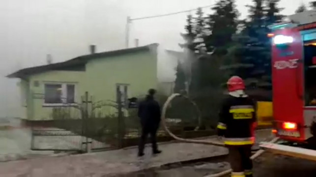 [AKTUALIZACJA] [WIDEO LIVE] Poważny pożar domu! Trwa akcja gaśnicza - Zdjęcie główne