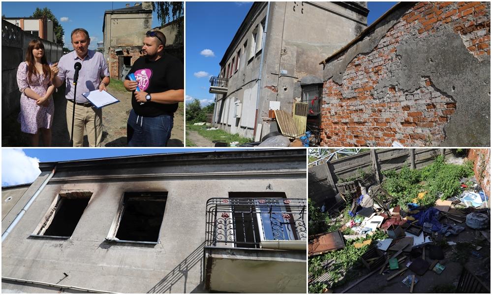 [ZDJĘCIA] Mieszka tu 5-osobowa rodzina. Zdaniem starosty budynek nadaje się tylko do rozbiórki - Zdjęcie główne