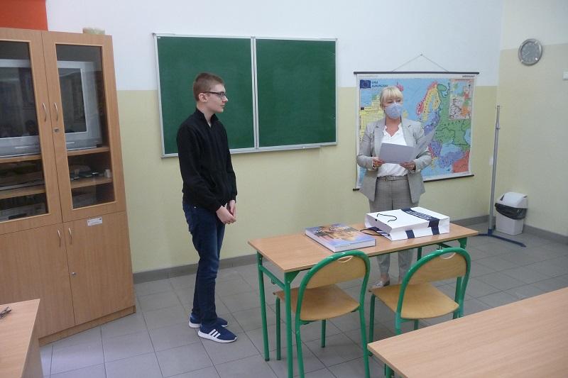 [FOTO] Duży sukces kutnowskiego ucznia. Został Laureatem wojewódzkiego konkursu - Zdjęcie główne
