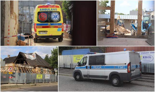 [ZDJĘCIA] Policja i pogotowie na placu budowy Pałacu Saskiego. Doszło do wypadku - Zdjęcie główne