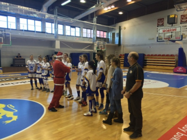 Mikołaj na meczu młodziczek KKS PRO-BASKET SIRMAX Kutno  - Zdjęcie główne
