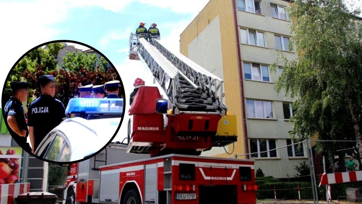 Duża akcja służb. Zatrzymali oszusta z powiatu kutnowskiego, policjantom pomagali strażacy - Zdjęcie główne