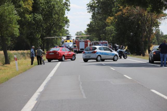 [ZDJĘCIA] Samochód rozbił się na drzewie i stanął w ogniu! Kierowca nie przeżył - Zdjęcie główne