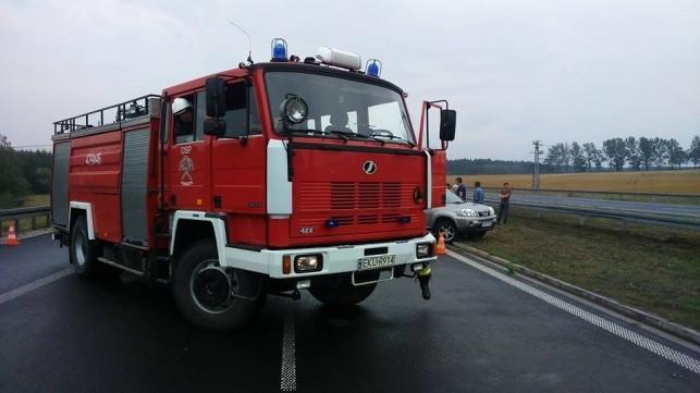 Pożar na autostradzie - Zdjęcie główne