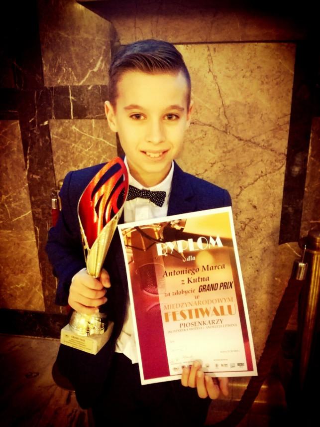 Antoni Marzec z Nagrodą Grand Prix na Międzynarodowym Festiwalu w Kielcach - Zdjęcie główne