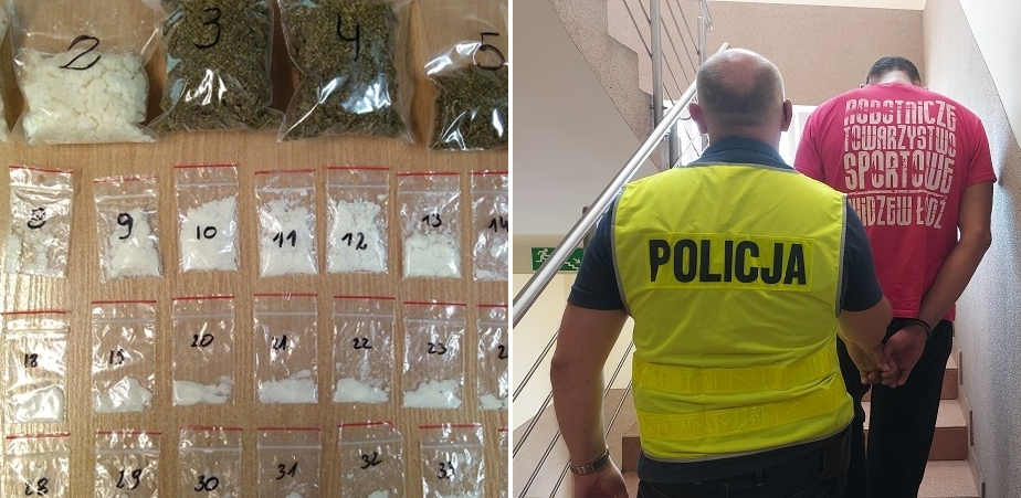 [ZDJĘCIA] Kutnowska policja uderza w narkobiznes. Zatrzymano dwóch mężczyzn, grozi im 10 lat więzienia - Zdjęcie główne