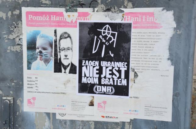 Wojna polsko-ukraińska? Kontrowersyjne plakaty na ulicach miasta - Zdjęcie główne