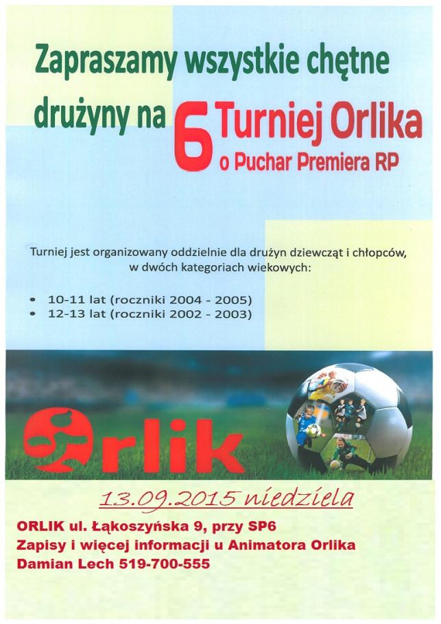 6 Turniej Orlika o Puchar Premiera RP - Zdjęcie główne