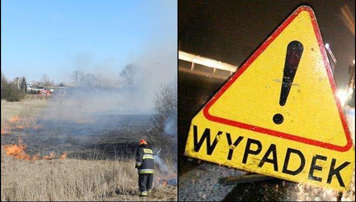 Pracowity weekend strażaków: od pożarów po groźne wypadki - Zdjęcie główne