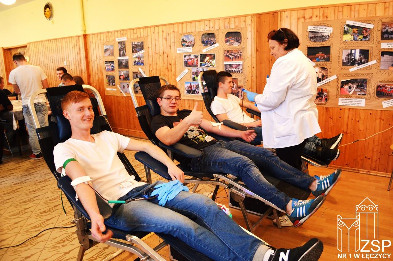 Kolejna zbiórka krwi w ZSP nr 1 w Łęczycy - Zdjęcie główne