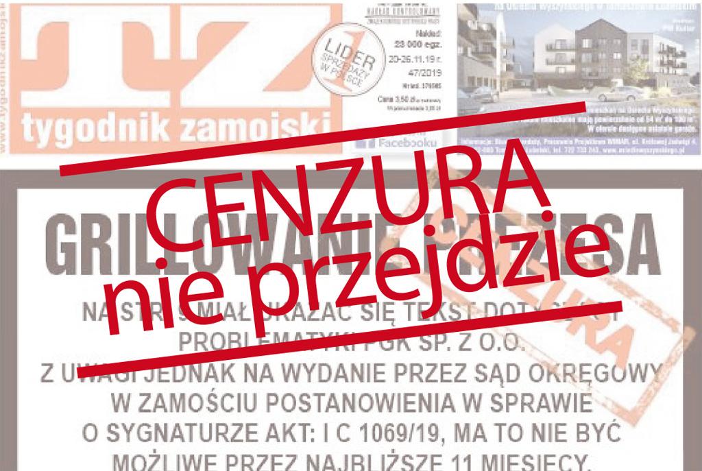 Cenzura nie przejdzie! Publikujemy zakazane teksty Tygodnika Zamojskiego. W geście solidarności - Zdjęcie główne