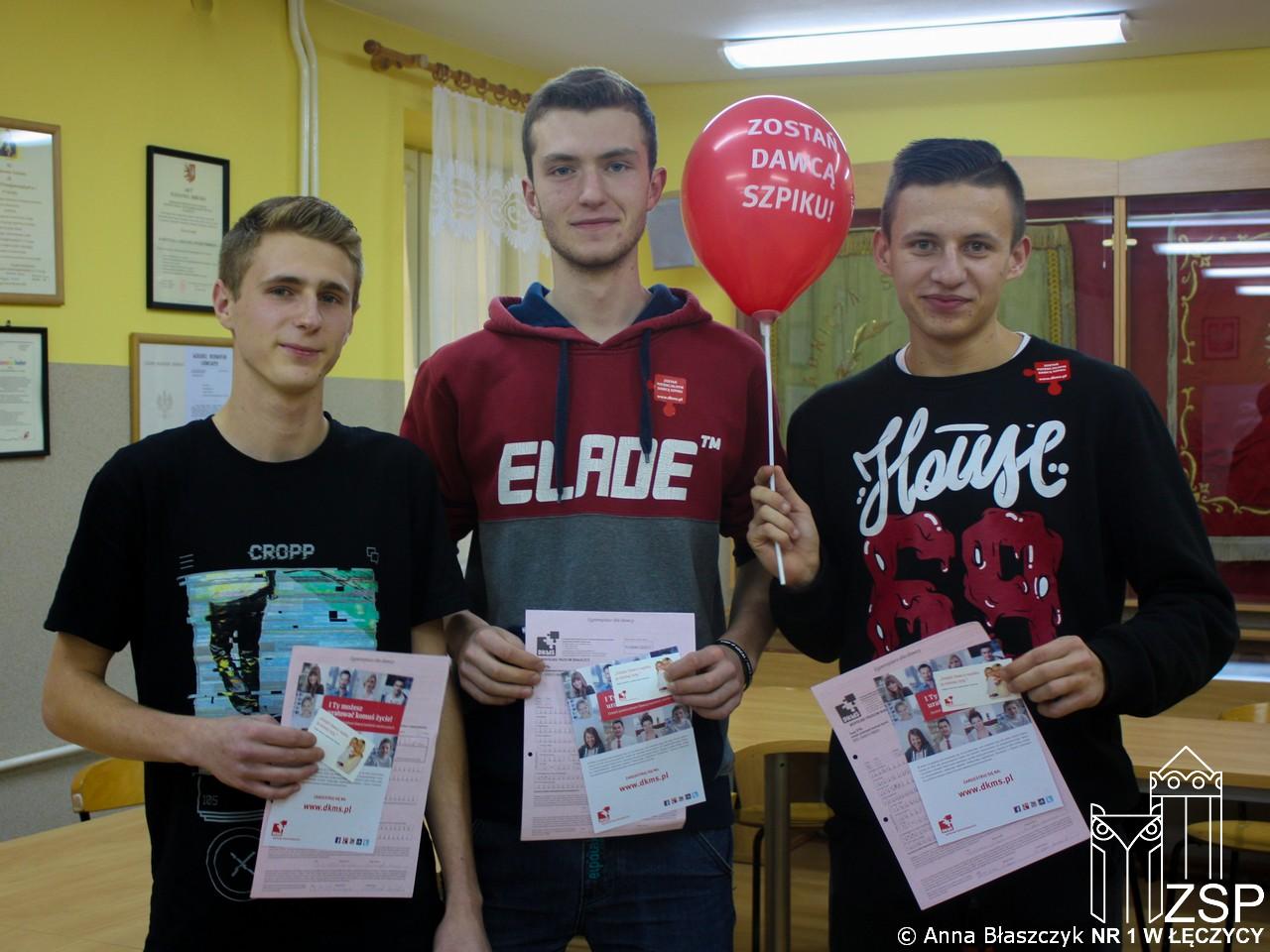 Dzień dawcy szpiku w ZSP nr 1 w Łęczycy - Zdjęcie główne