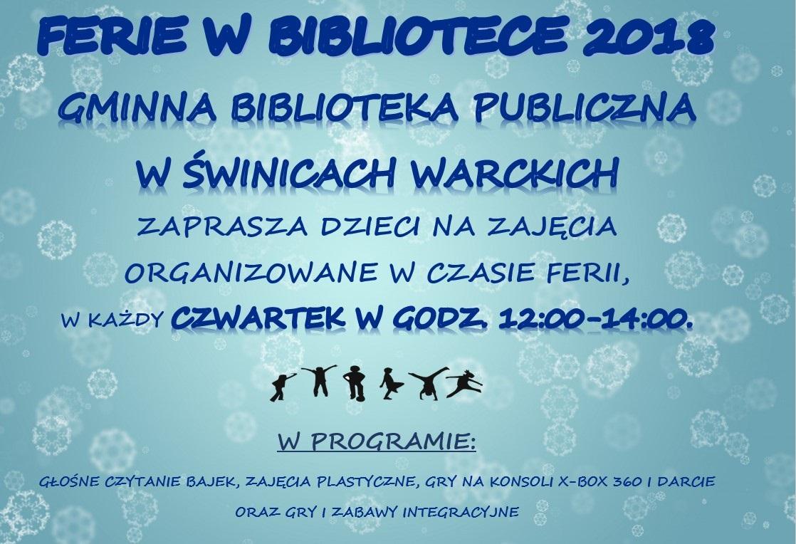 Ferie 2018 w Świnicach Warckich [PROGRAM] - Zdjęcie główne