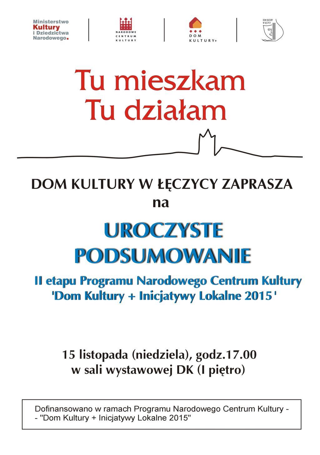 """Podsumowanie programu """"Dom Kultury + Inicjatywy Lokalne 2015"""" - Zdjęcie główne"""