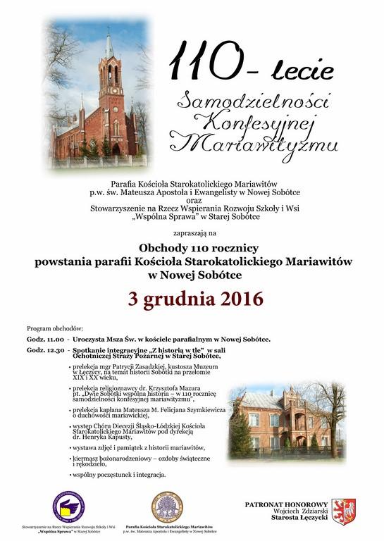 110-lecie Samodzielności Konfesyjnej Mariawityzmu  - Zdjęcie główne