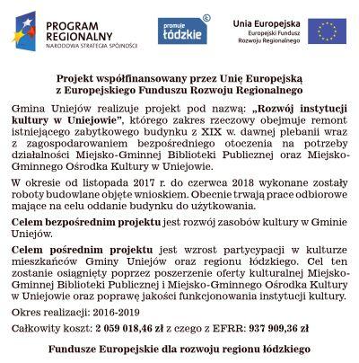 """""""Rozwój instytucji kultury w Uniejowie"""" - Zdjęcie główne"""