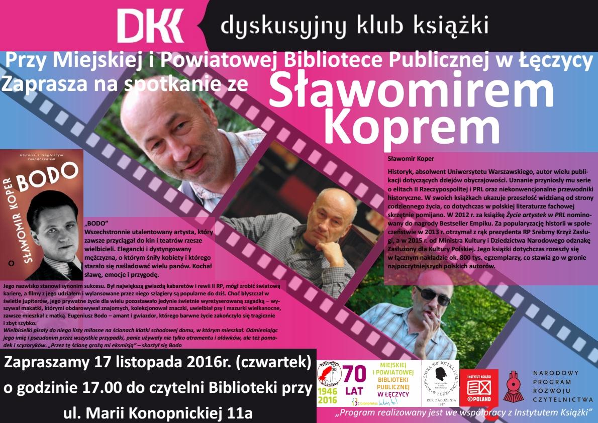 Spotkanie autorskie ze Sławomirem Koprem - Zdjęcie główne