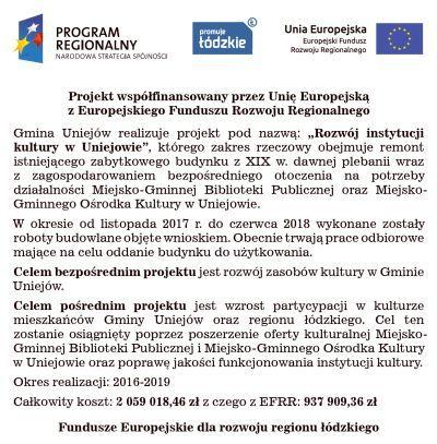 Rozwój instytucji kultury w Uniejowie - Zdjęcie główne