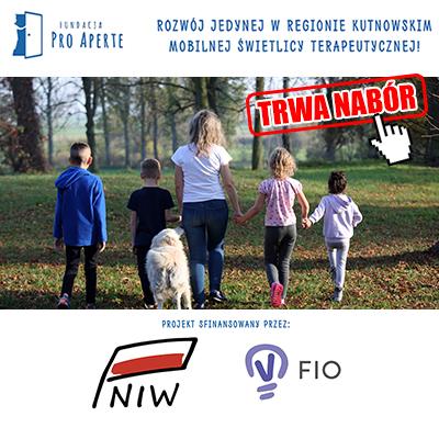 """Fundacja Pro Aperte realizuje projekt """"Rozwój jedynej w Regionie Kutnowskim mobilnej świetlicy terapeutycznej"""" - Zdjęcie główne"""
