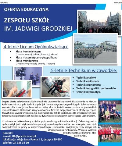 Oferta edukacyjna ZS im. J. Grodzkiej  - Zdjęcie główne