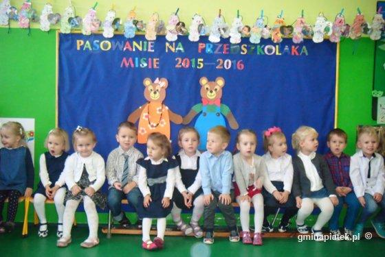 Każdy Miś został pasowany na przedszkolaka - Zdjęcie główne