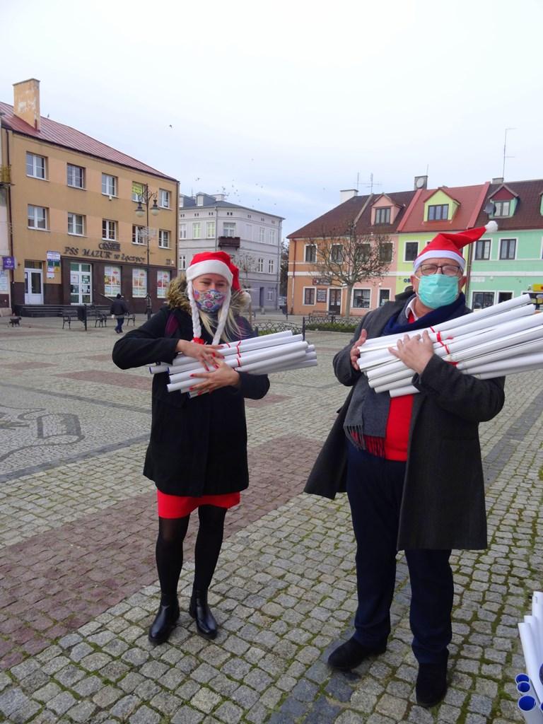 Burmistrz rozdawał kalendarze - Zdjęcie główne