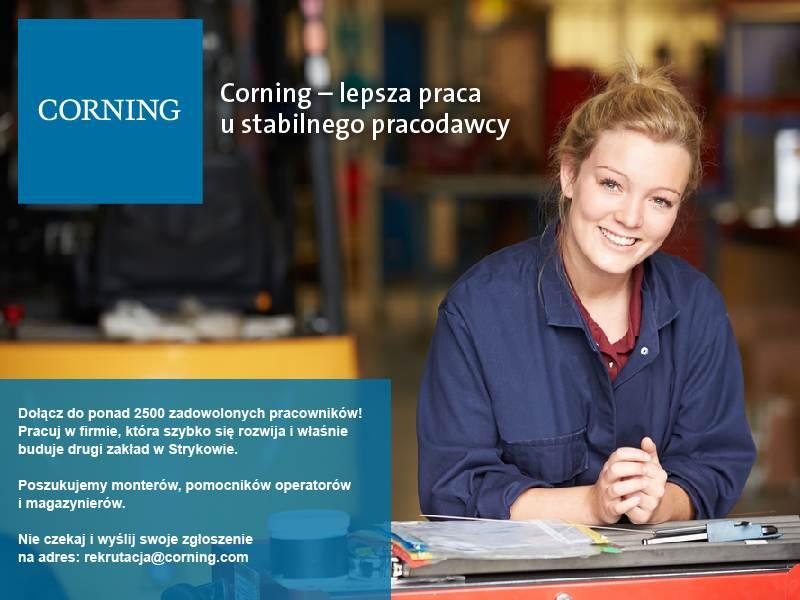 Corning zatrudnia w Strykowie - Zdjęcie główne