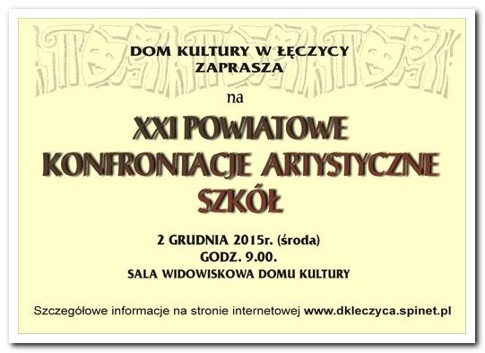 XXI Powiatowe Konfrontacje Artystyczne Szkół - Zdjęcie główne