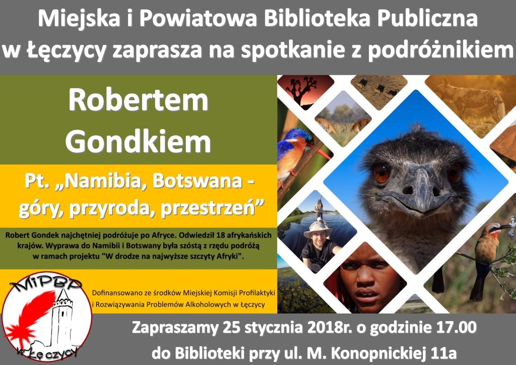 Spotkanie z Robertem Gondkiem w MiPBP już dzisiaj  - Zdjęcie główne