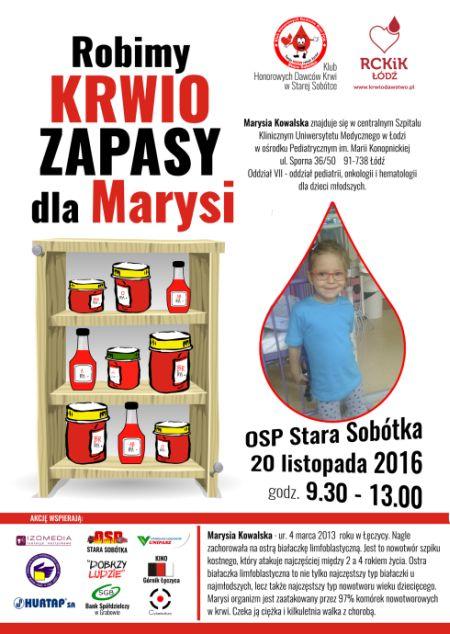 Krwiozapasy dla Marysi - Zdjęcie główne