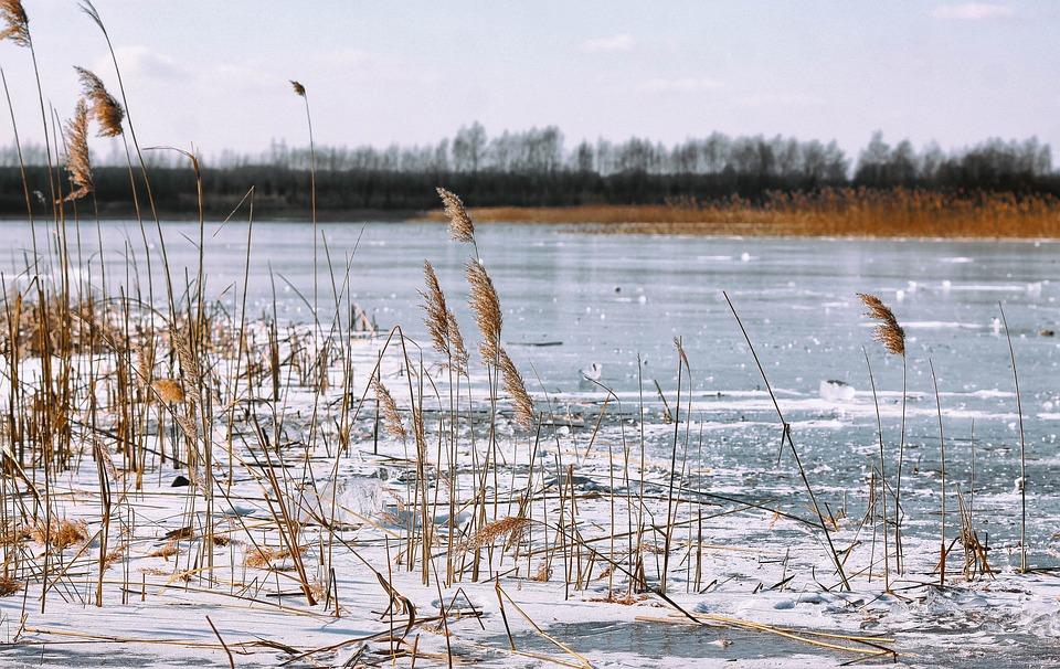 Policja ostrzega. Uważajcie na kruchy i cienki lód na zbiornikach wodnych - Zdjęcie główne