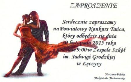 Powiatowy Konkurs Tańca - Zdjęcie główne