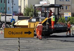 Wstrzymano asfaltowanie w Al. Jachowicza - Zdjęcie główne