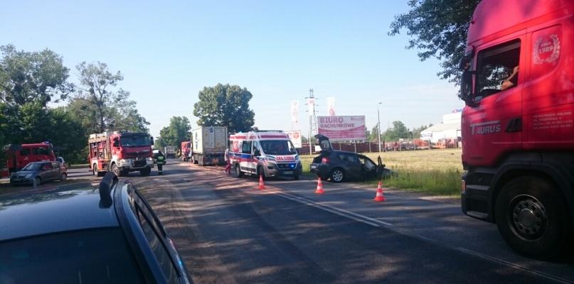 Zdarzenie na Łukasiewicza. Zablokowana droga [FOTO] - Zdjęcie główne