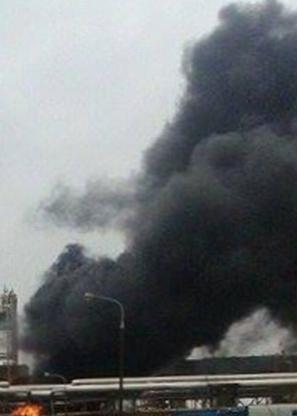 Pożar na instalacji w Orlenie - Zdjęcie główne