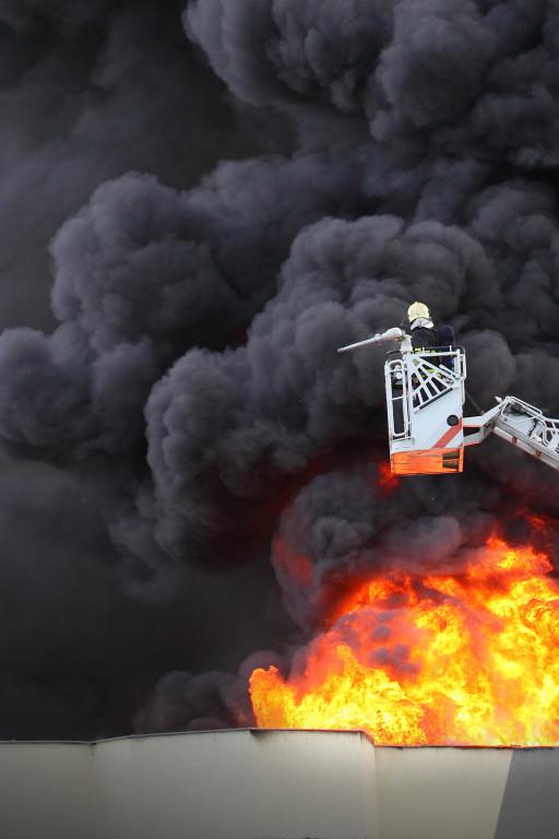 Potężny pożar w gminie Bulkowo - Zdjęcie główne